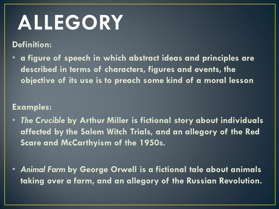 Allegory Examples