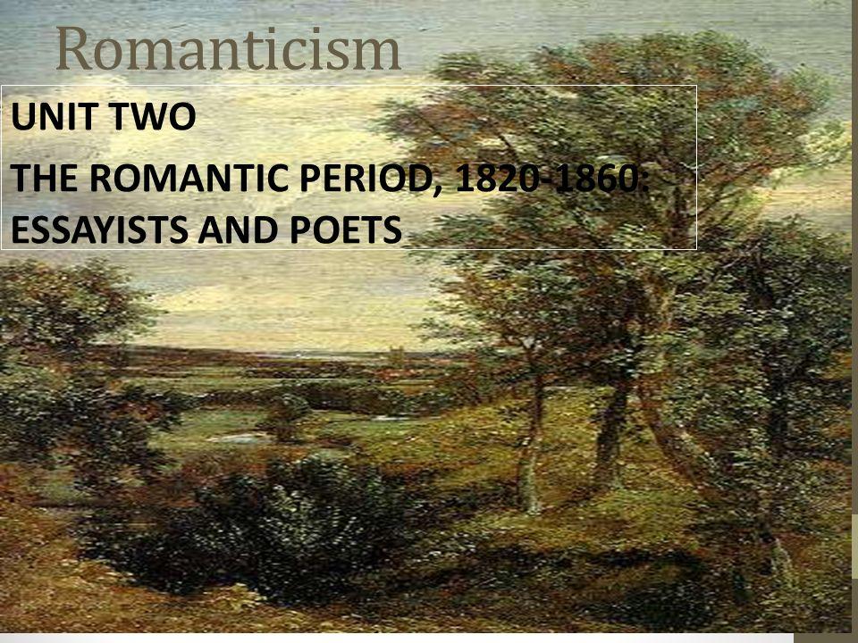 essayists of romantic age