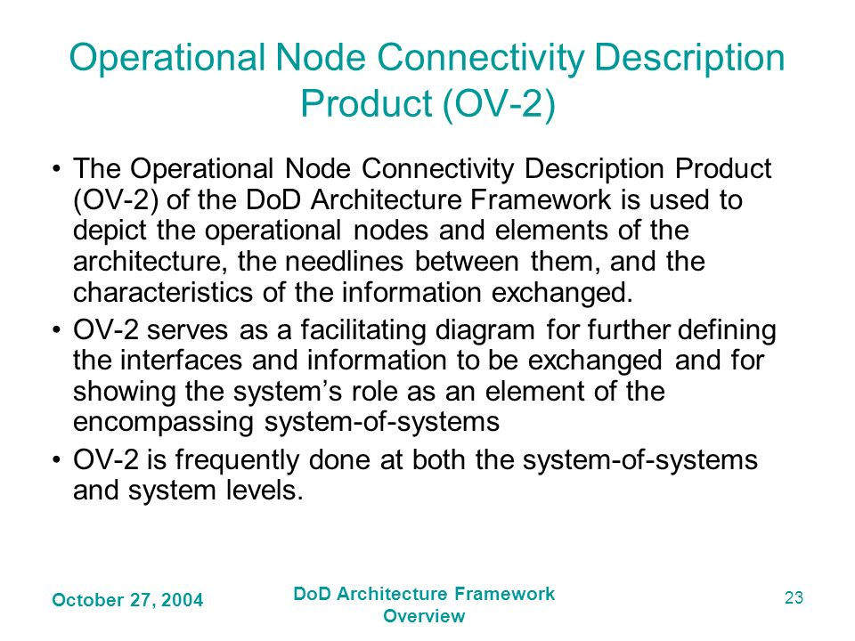 Operational Node Connectivity Description Product (OV-2)