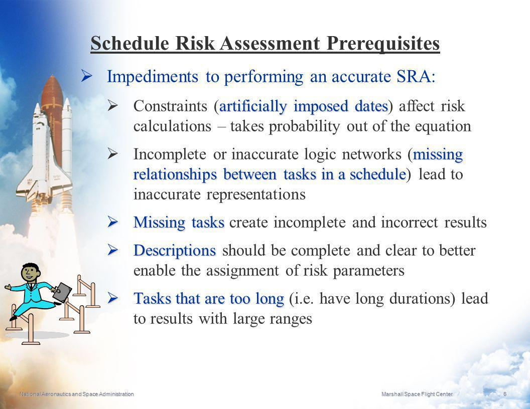 Schedule Risk Assessment Prerequisites