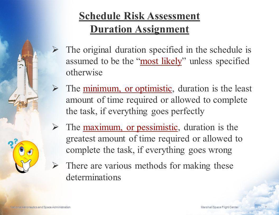 Schedule Risk Assessment