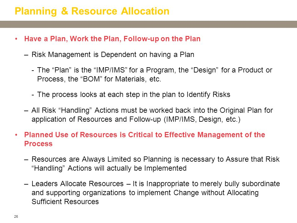 Planning & Resource Allocation