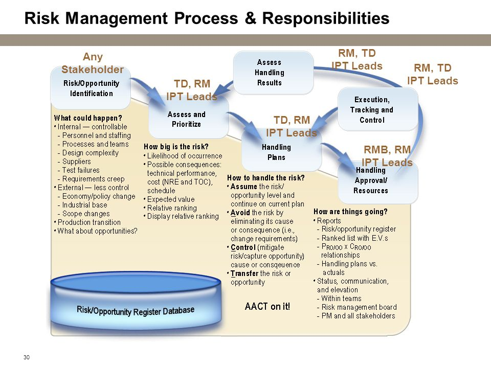 Risk Management Process & Responsibilities