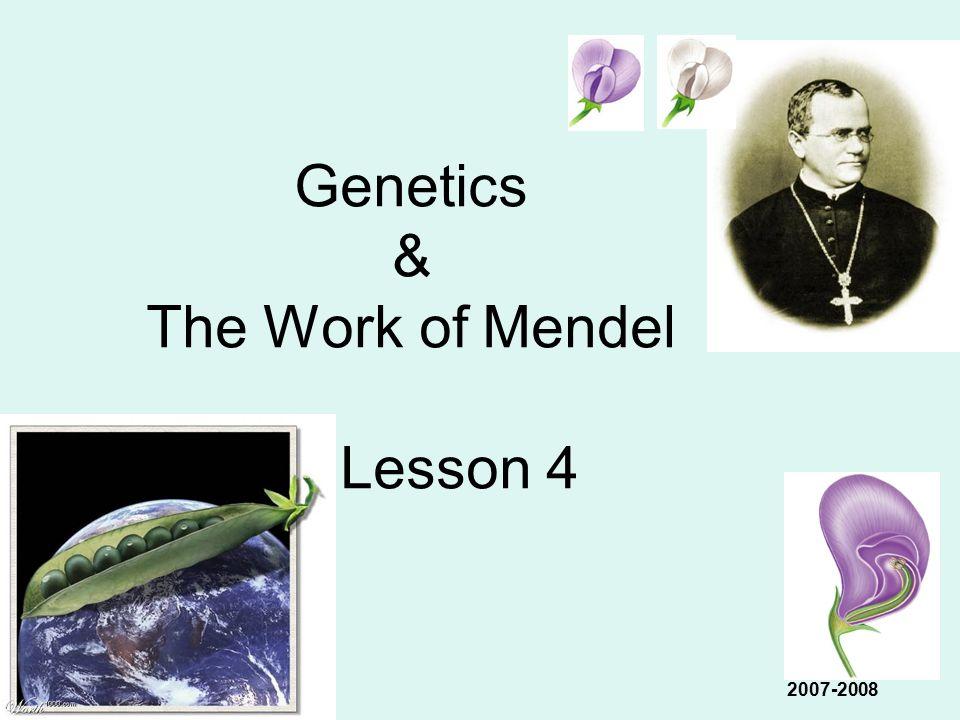 Genetics & The Work of Mendel Lesson 4