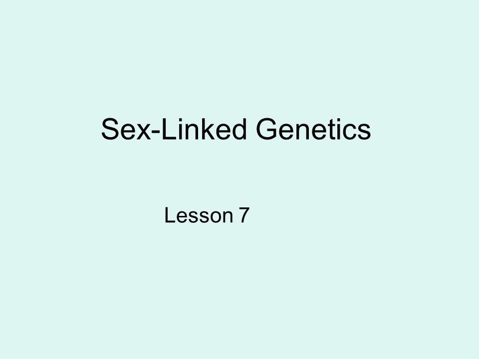 Sex-Linked Genetics Lesson 7