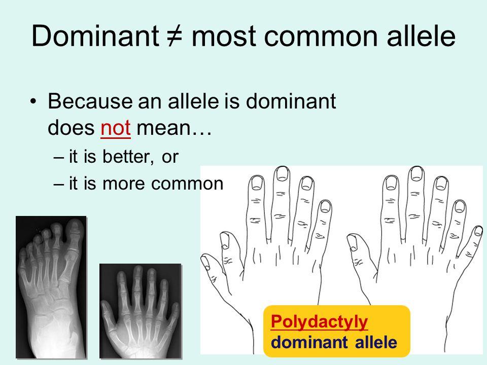 Dominant ≠ most common allele