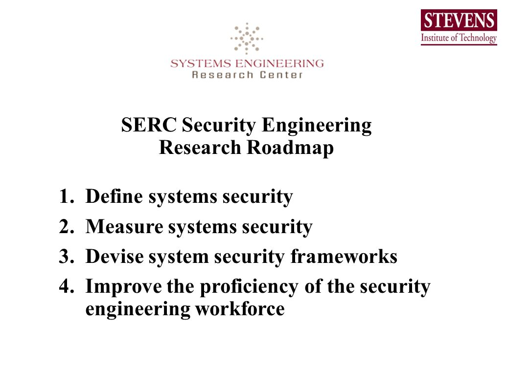 SERC Security Engineering