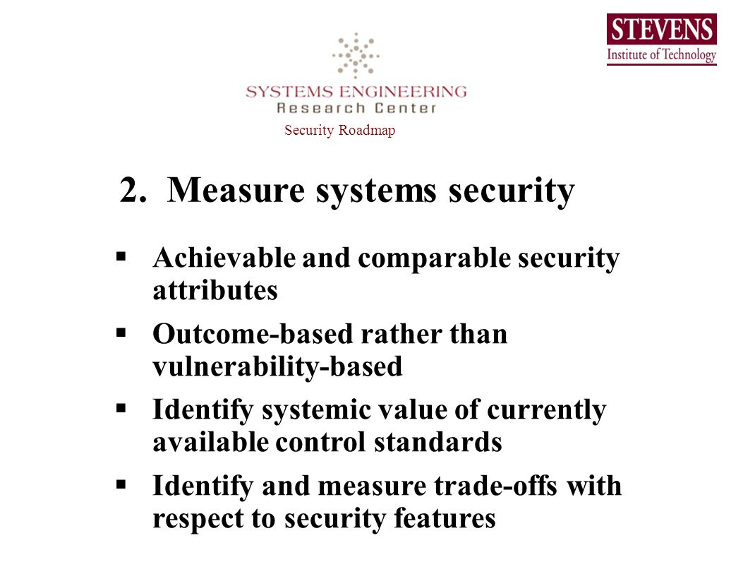 2. Measure systems security
