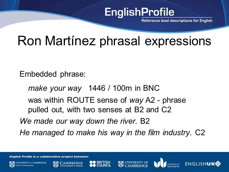 Ron Martínez phrasal expressions