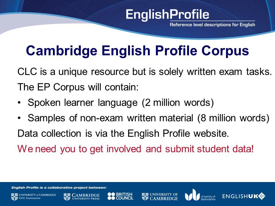 Cambridge English Profile Corpus