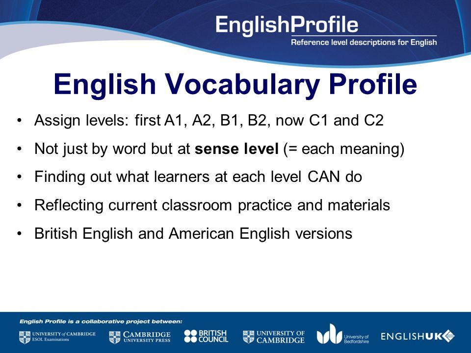 English Vocabulary Profile
