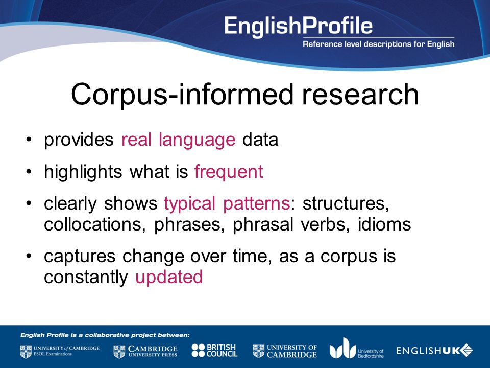 Corpus-informed research
