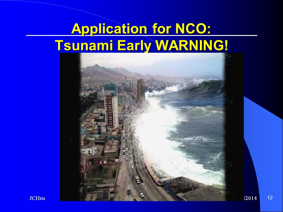 Application for NCO: Tsunami Early WARNING!