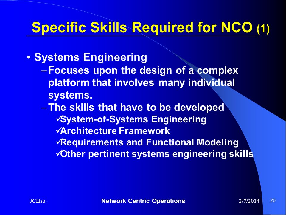 Specific Skills Required for NCO (1)
