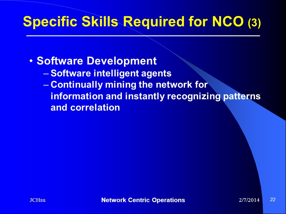 Specific Skills Required for NCO (3)