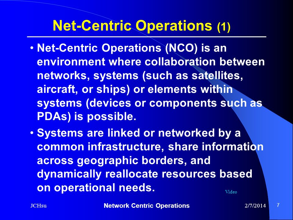 Net-Centric Operations (1)