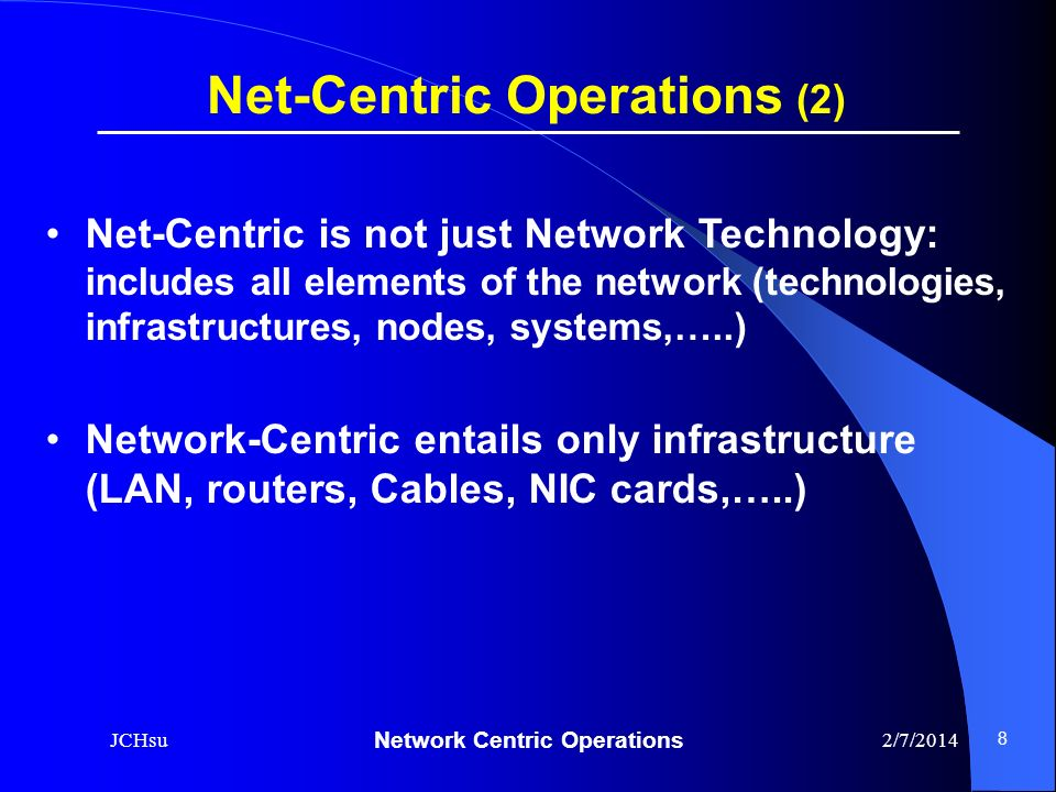 Net-Centric Operations (2)