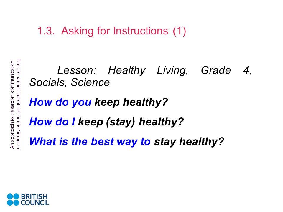 Lesson: Healthy Living, Grade 4, Socials, Science