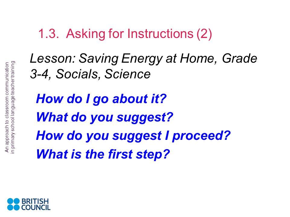 Lesson: Saving Energy at Home, Grade 3-4, Socials, Science