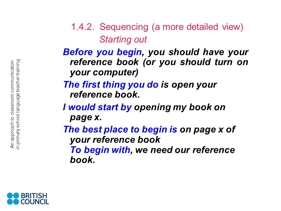 Sequencing (a more detailed view)