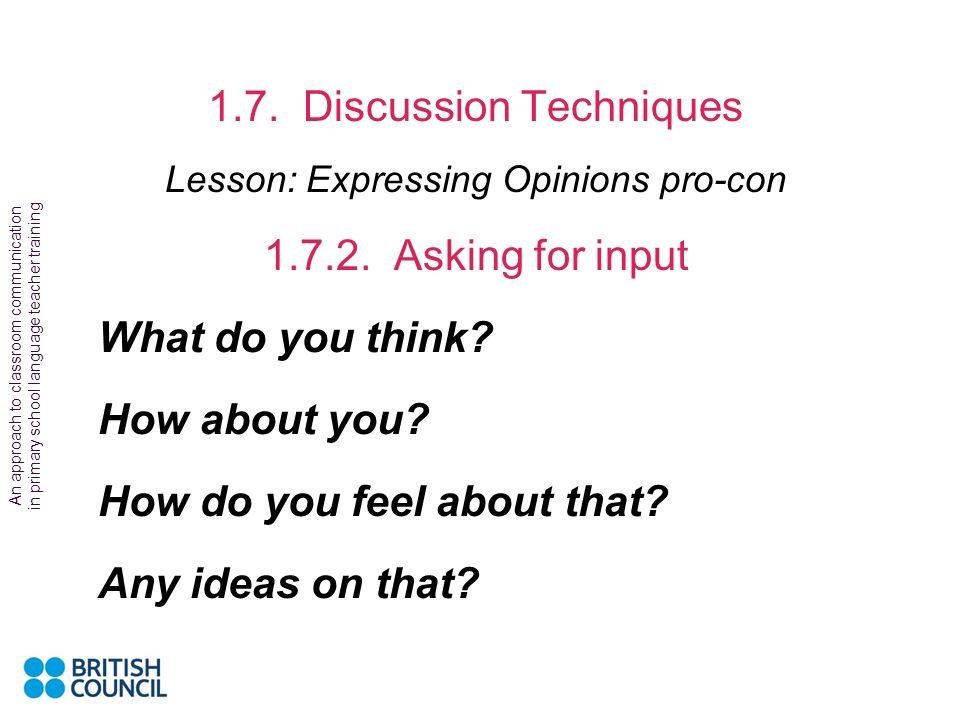 1.7. Discussion Techniques