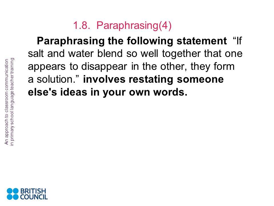 1.8. Paraphrasing(4)