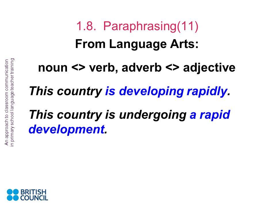 noun <> verb, adverb <> adjective