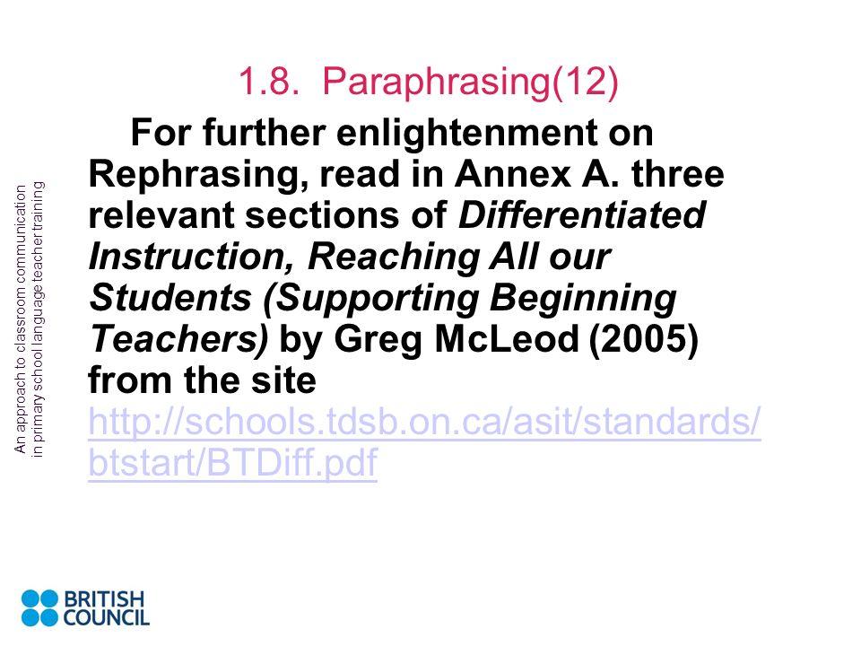 1.8. Paraphrasing(12)