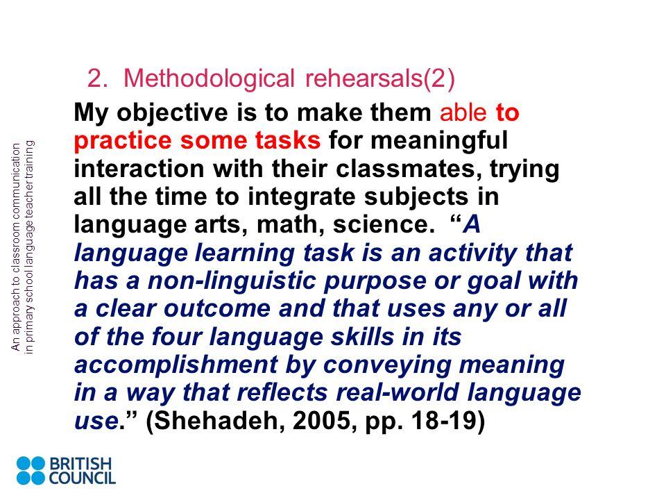 2. Methodological rehearsals(2)