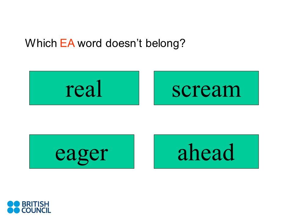 Which EA word doesn't belong