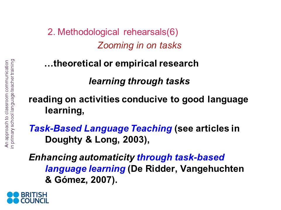 learning through tasks