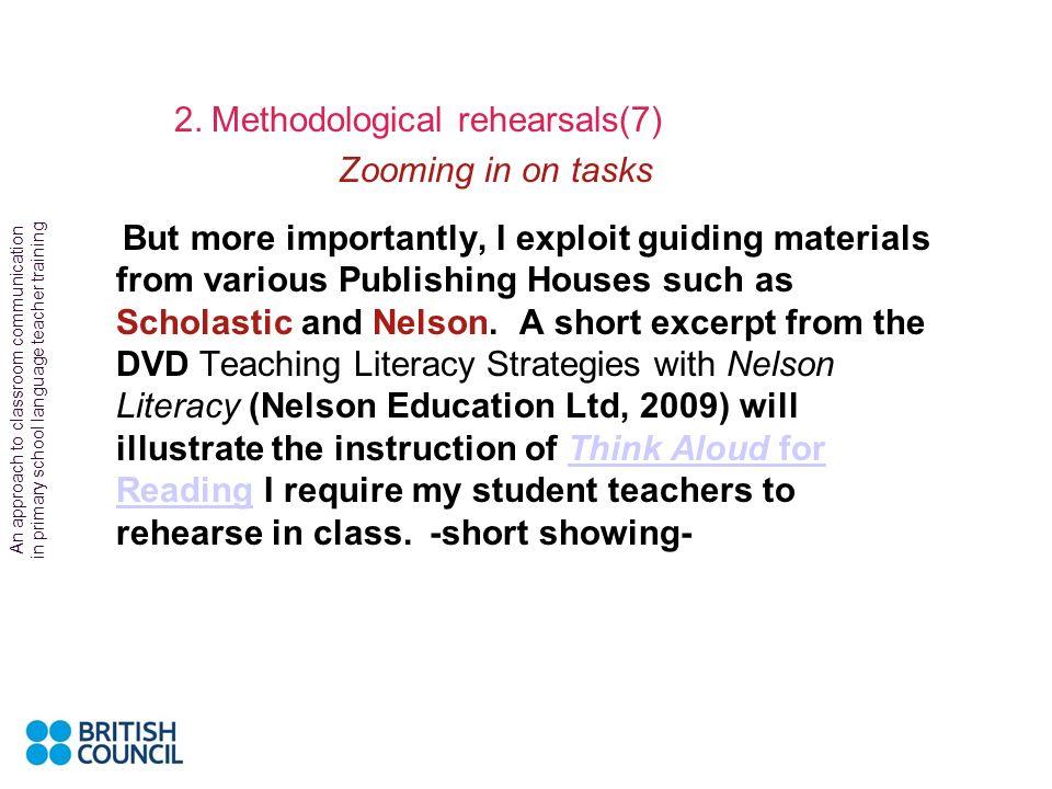 2. Methodological rehearsals(7)