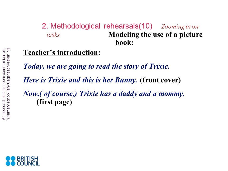 Teacher's introduction: