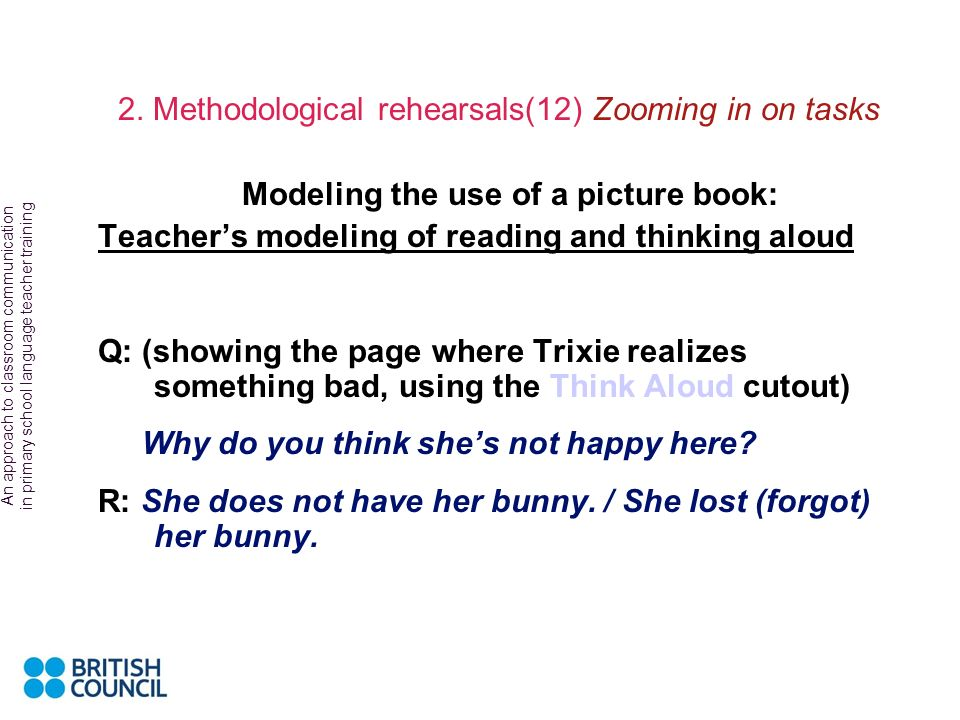 Modeling the use of a picture book: