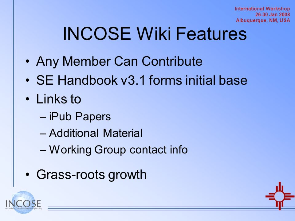 INCOSE Wiki Features Any Member Can Contribute