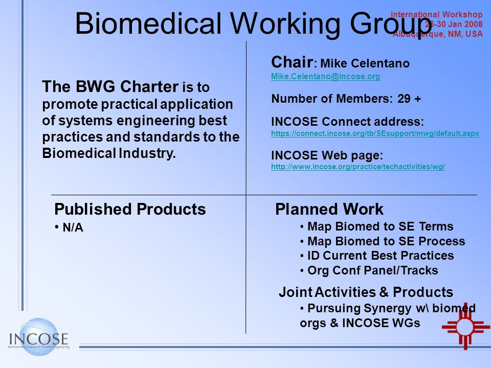 Biomedical Working Group