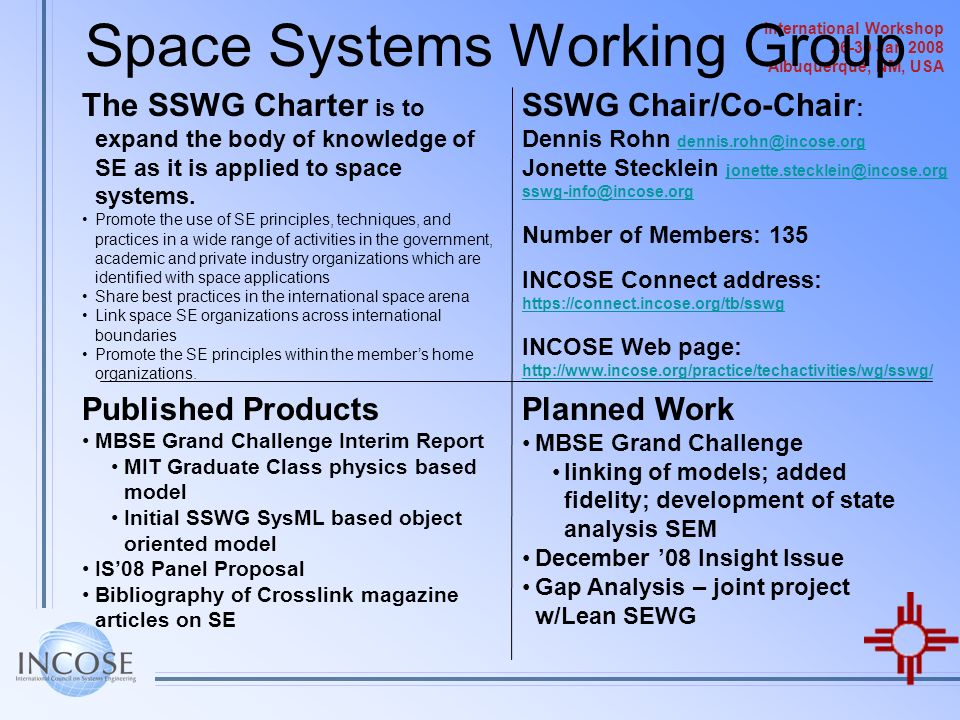 Space Systems Working Group