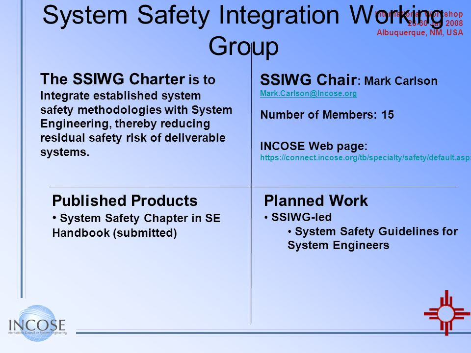 System Safety Integration Working Group