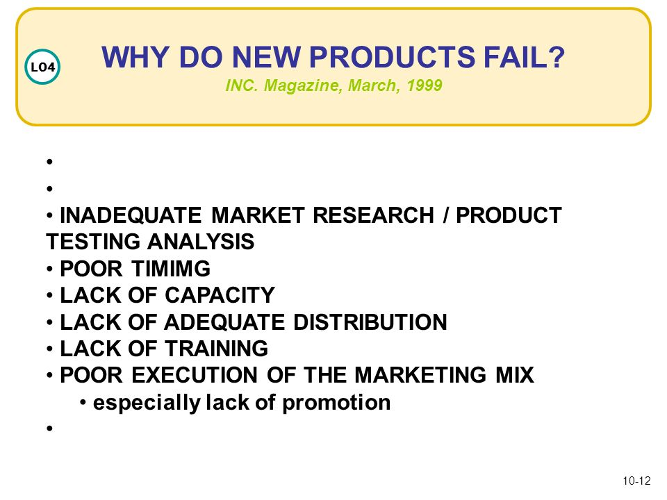 why does a product fail But why do so many products fail to produce any meaningful financial return here are 7 key reasons major brands' products fail on the market: reason #1: failure to understand consumer needs and wants.