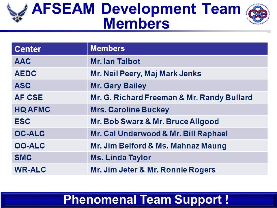 AFSEAM Development Team Members