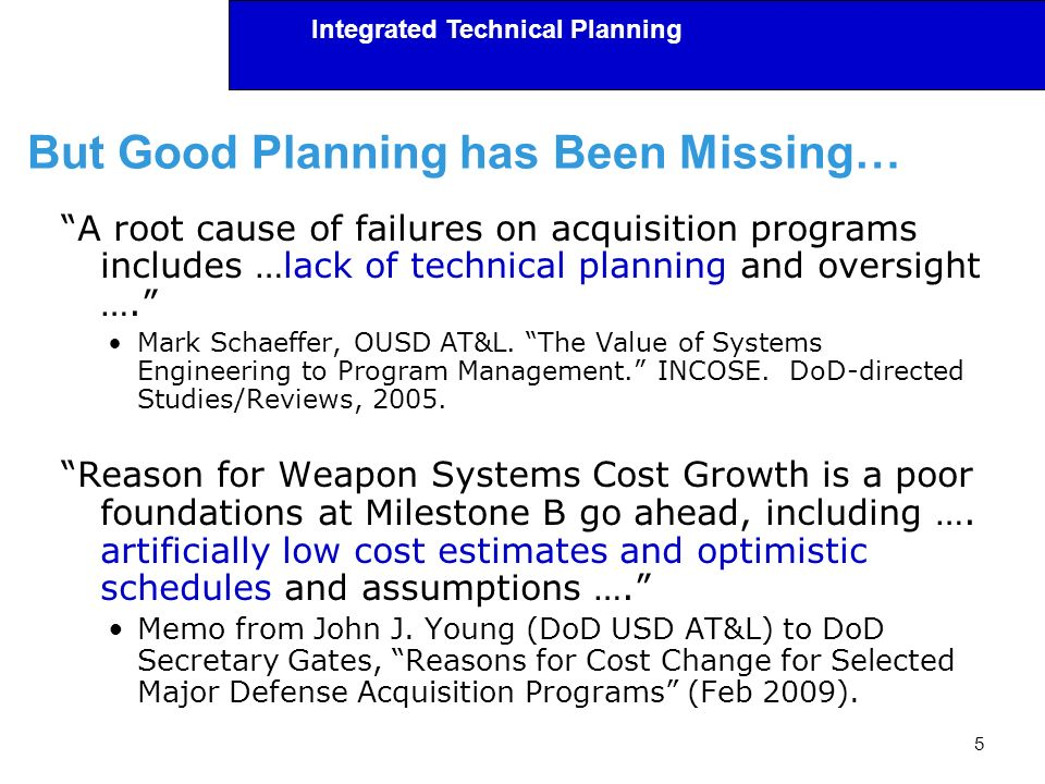 But Good Planning has Been Missing…