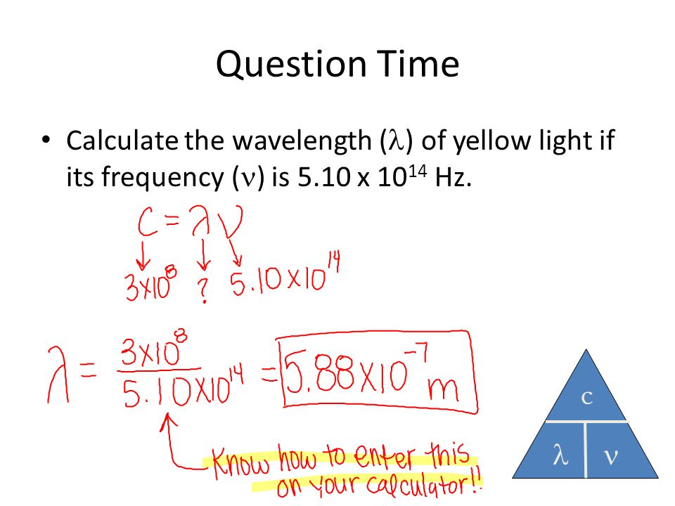 relationship of frequency light and its color