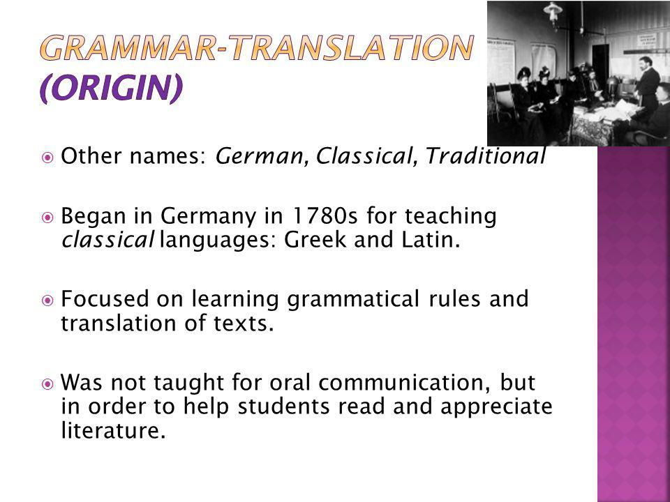 Grammar-Translation (Origin)