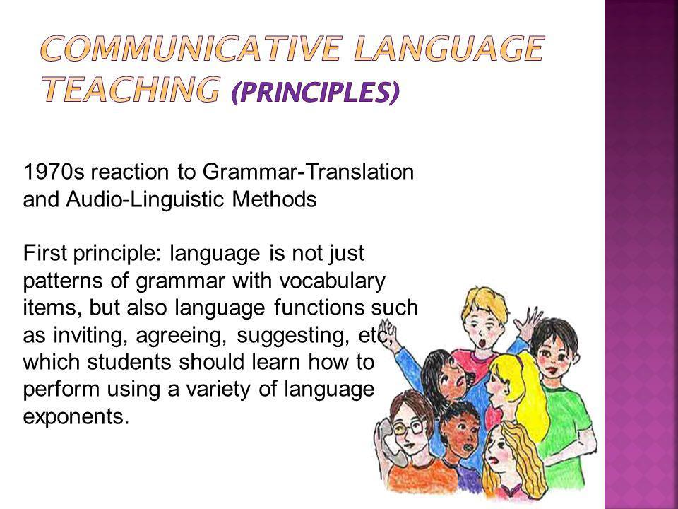 Communicative Language Teaching (Principles)
