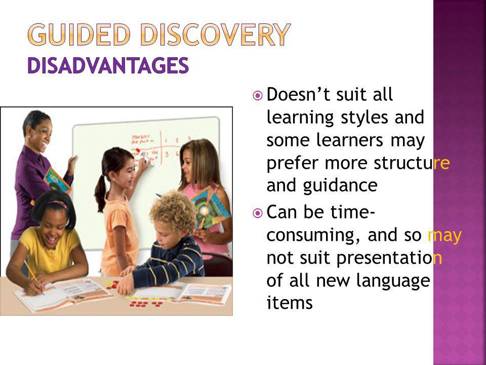 Guided discovery disadvantages