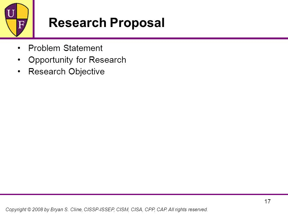 Research Proposal Problem Statement Opportunity for Research