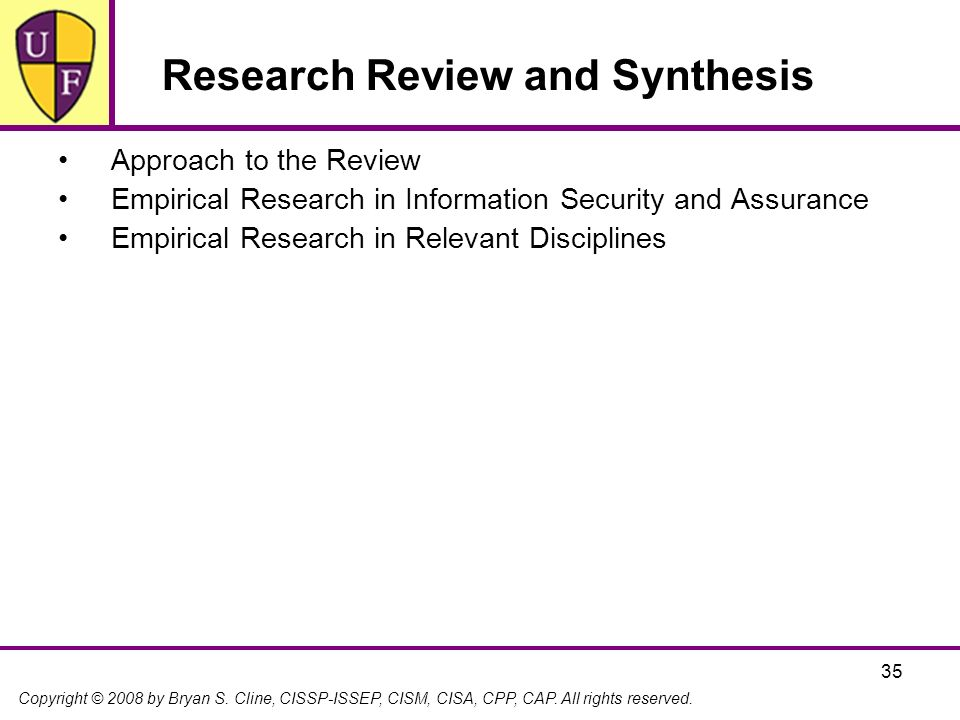Research Review and Synthesis