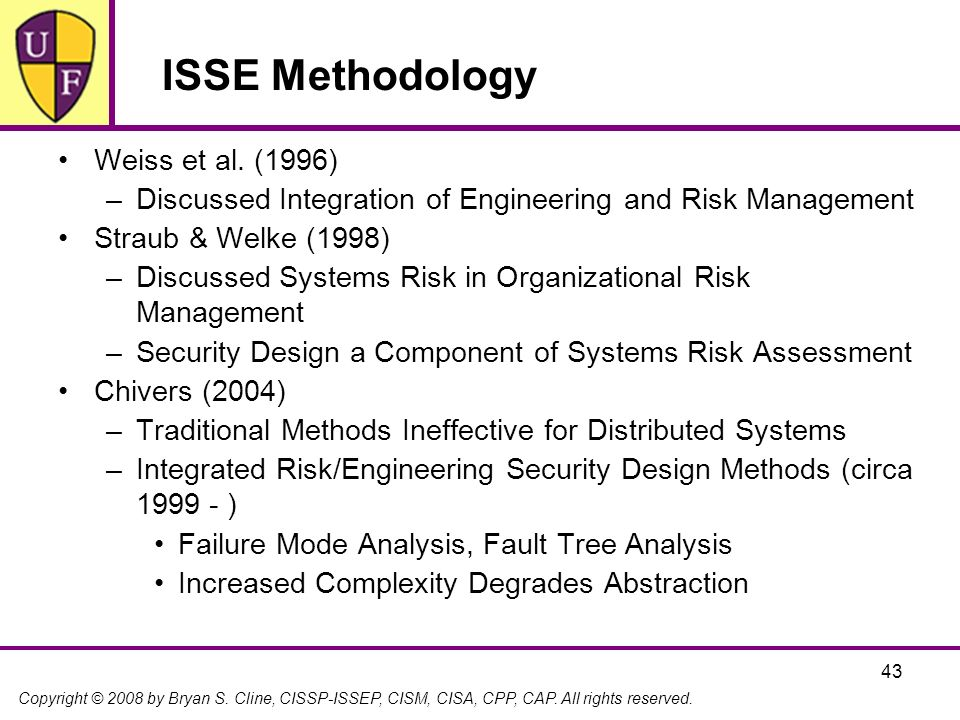ISSE Methodology Weiss et al. (1996)