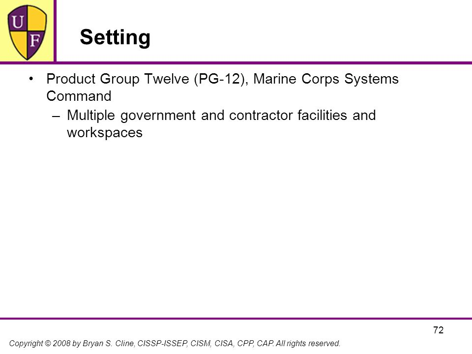 Setting Product Group Twelve (PG-12), Marine Corps Systems Command