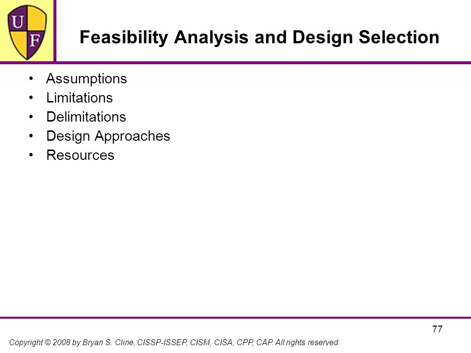 Feasibility Analysis and Design Selection